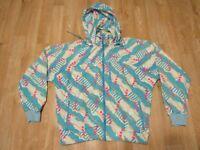 Vintage nike windbreaker blue teal multicolar large 90s