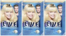 Schwarzkopf Intense Colour Lightener 00A Absolute Platinum Hair Dye 3 For 2 Pack