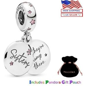 New Authentic ALE 925 Silver PANDORA Forever Sisters Dangle Charm