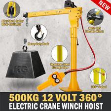 NEW Electric Hoist Winch Crane 500kg 12V 360 Degree Engine Car Truck Lift