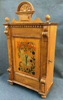 Large antique german black forest pharmacy cabinet furniture early 1900's wood