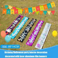 Personalised Foil Banner Birthday Party Banners Festival Party Decor Supply