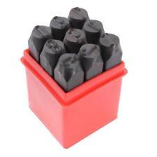 6mm Marking Stamps Steel Hand Metal Set Punch Numbers Die Tool Craft in Case
