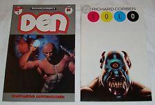 RICHARD CORBEN LOT DEN #1 AND SOLO #2 DC COMICS NM FANTAGOR PRESS