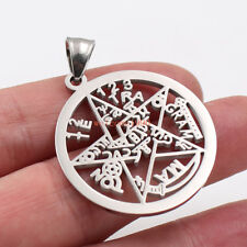 Silver 32mm pentagram symbol of Wicca paganism stainless steel Pendant Charms