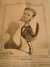 Caricature 1873 - Galerie Charivarique M. Raoul Duval Ombre Chinoise