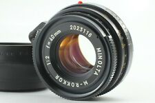 """"""" Excellent++++ """" Minolta M Rokkor 40mm f2 For CLE CL Leica M Mount From JAPAN"""