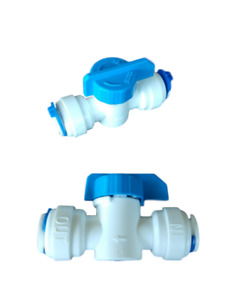 """3/8"""" Tubing Ball Valve, 2 PACK, Quick Connect Push Fit, RO, Cooler or Icemaker"""
