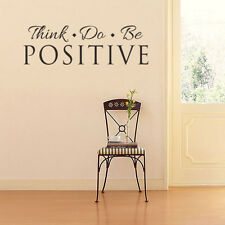 Quote Wall Decals Think Do Positive Mural Vinyl Sticker Home Bedroom Art Decor
