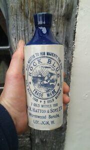 A Nice Black Print Rock Blue Wormwood Scrubs London Bottle.
