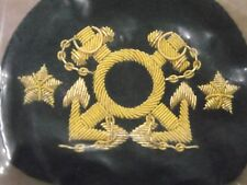 VICE COMMODORE  TWO STAR HAT PATCH  YACHT CLUB