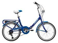 Bike 20 Bologna Vivid Blue Folding Fold Hi-Tension 6 Speed Cinzia