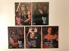 PROMO CARDS: WCW/NWO DEBUT SERIES 1998 Topps: 5 DIFFERENT: #P1 P2 P3 P4 P5 (set)