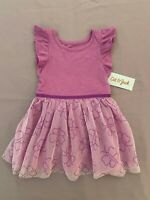 Toddler Girls Cat /& Jack Valentines Heart SS A-Line Dress~Ivory//Neon Pink Tulle