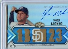 2012 TOPPS TRIPLE THREADS YONDER ALONSO AUTO RELIC  05/10