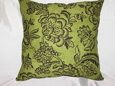 "2 DECORATIVE THROW PILLOW  CUSHION COVERS 17"" FLORAL"