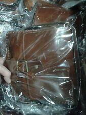 borsa uomo piccola  pelle vero cuoio 20x20 cm artigianale con tracolla