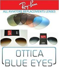 LENTI di Ricambio Sole RAYBAN AVIATOR 3025 Ray Ban Replacement Lenses 3407 3030