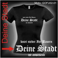 Damen T-Shirt Girlie Shirt mit Wunschtext Stadt oder Namen Wunschdruck GOFU02-01