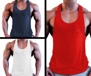 Men's Bodybuilding Stringer Tank Top Y-Back Gym Workout Sports Vest Shirt Clothe
