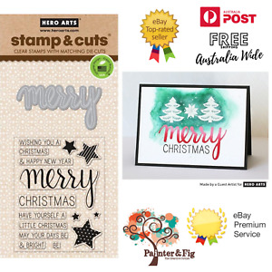 Hero Arts Merry Stamps & Die - Bright, Have Yourself a Merry Little Christmas