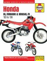 Honda XL/XR600R & XR650L/R (83-14) 83-14 by Haynes Publishing 9781620921678