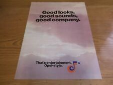 OPEL Brochure GM GAMMA AUTO RADIO CARTUCCIA RIPRODUTTORI SPEAKER Accessori c1980