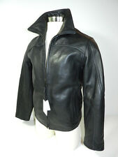 Calvin Klein Jacket Black Leather Mens Small New