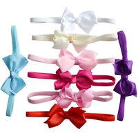 Lovely Baby Girls Soft Bow Headband Hairband  Elastic Wedding/Christening/Party