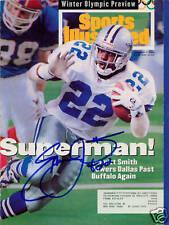 Emmitt Smith Dallas Cowboys SIGNED Sports Illustrated 2/7/94 COA!