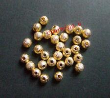 40pz perle metalliche diamentate spacer separatori 4mm colore oro