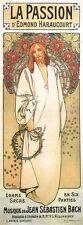 """La PASSION Deco Art Nouveau Stampa Alphonse Mucha 16x6""""a3 POSTER NUOVO Gesù Cristo"""