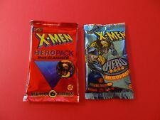 Pogs * Hero Packs * X-Men 1994 & 1995 * Unopened * 6 Caps/1 Slammer in each