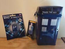 Dr Doctor Who Tardis pencil case and Tardis Eraser
