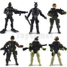 Set of 6 S.W.A.T Counter Strike Police Soldier Figures wGun Weapon