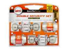 Lane combo entrance set and deadbolt DOUBLE SET keyed alike SSS finish 4 locks