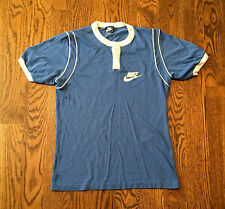 Vintage Nike T Shirt Small Blue Tag Early 80s Thin Ringer Rare
