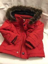 Monsoon Coat 12- 18 Months Toddler Kids winter Jacket. Red down faux fur trim.