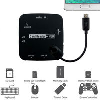 Micro USB Host Adapter Connection OTG Cable Card Reader Hub for Galaxy S7 UStock