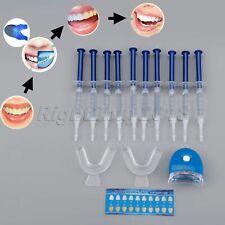 Teeth Whitening Kit 10 Tubes+2 Trays+LED Light Tooth Bleach Bright Hygiene