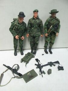 3 Soldiers of the World Military Action Figures