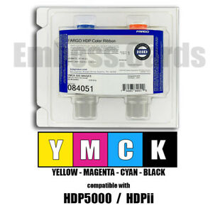 Fargo 84051 084051 YMCK Color Ribbon 500 Images for HDPii HDP5000 754563840510