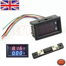 Doble amplificador digital LED voltímetro amperímetro voltímetro + actual derivación DC 100V 50A