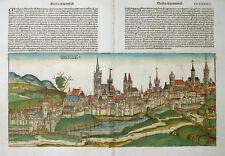 POLEN BRESLAU SCHEDEL WELTCHRONIK INKUNABEL STADTANSICHT KOLORIERT KOBERGER 1493