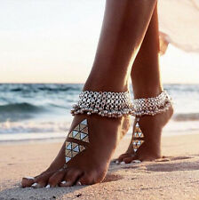 Silver Anklet Ankle Bracelet Foot Chain Barefoot Sandal Beach Jewelry