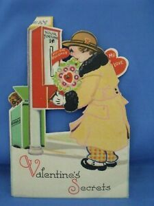 Vintage Valentine Mechanical Stand Up Humorous Made in Germany