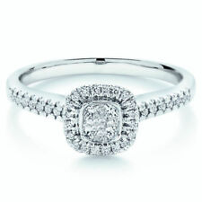 Anillos de joyería con diamantes naturales princesa I1