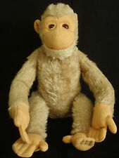 Vintage c1930's Steiff Jocko Chimpanzee Mohair Glass Eyes fully jointed toy