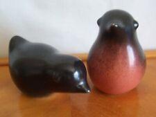 Vintage Howard Pierce Porcelain Pair of Robin Red Breast Birds - Unusual!
