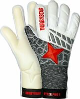 Derbystar Fußball Torwarthandschuhe Hyper Pro I Kinder weiß grau rot